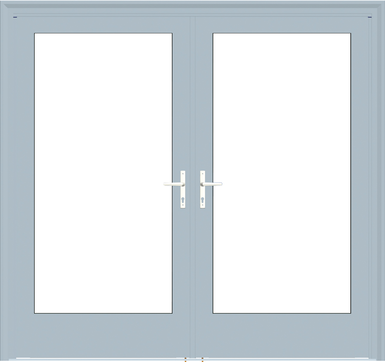 Value aluminum Series commercial french door