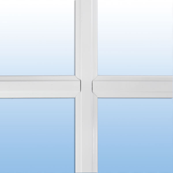 "1"" beveled window grid"