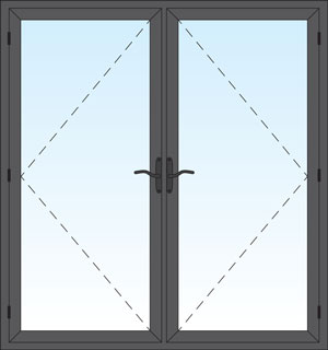 Aluminum Series French Swing Door Image